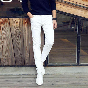 white stretch jeans | Sketcherzplace