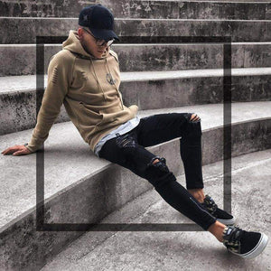 "Sketcherz ""O Hole""  Skinny Ripped Jeans 