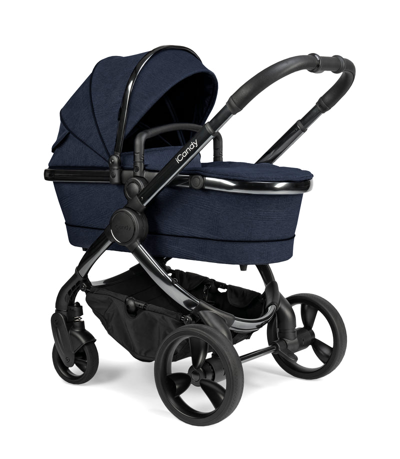 iCandy Peach Pushchair & Carrycot - Phantom Navy Check