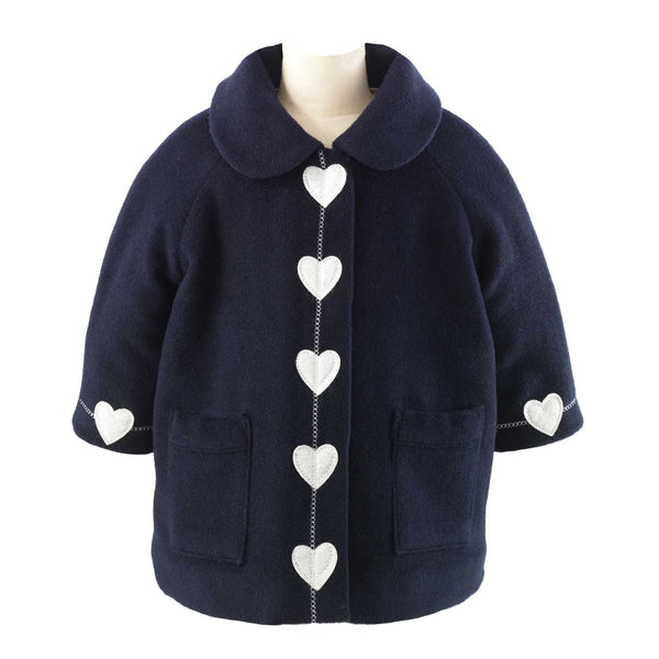 Heart Trim Pram Coat