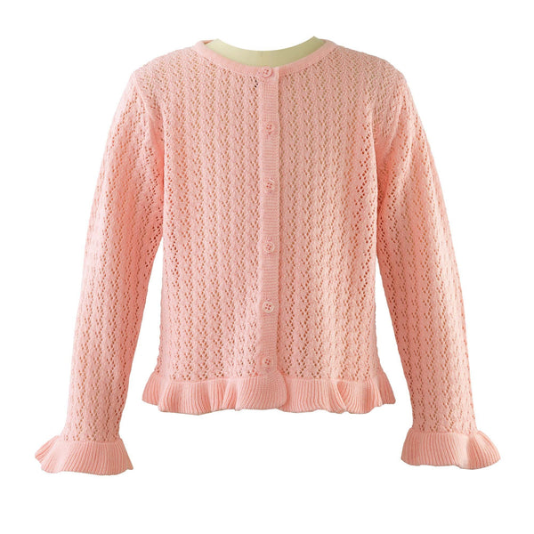 Lace Knit Frill Cardigan