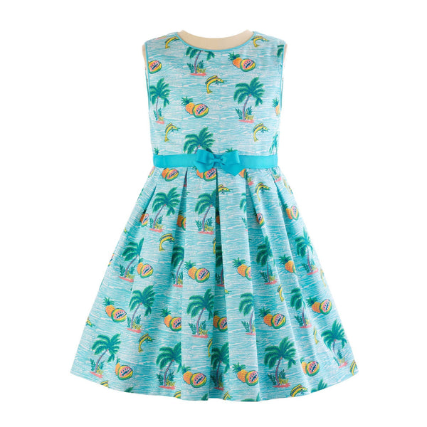Tropical Sleeveless Dress