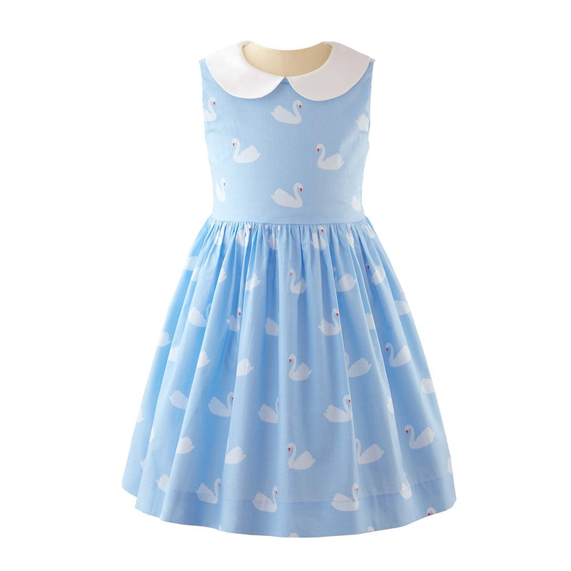 Swan Peter Pan Collar Dress