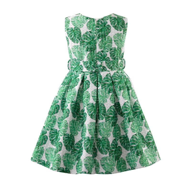 Palm Damask Dress