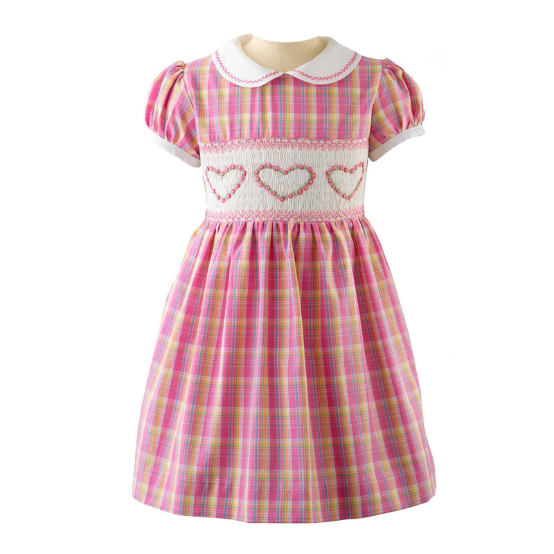 Checked Smocked Dress