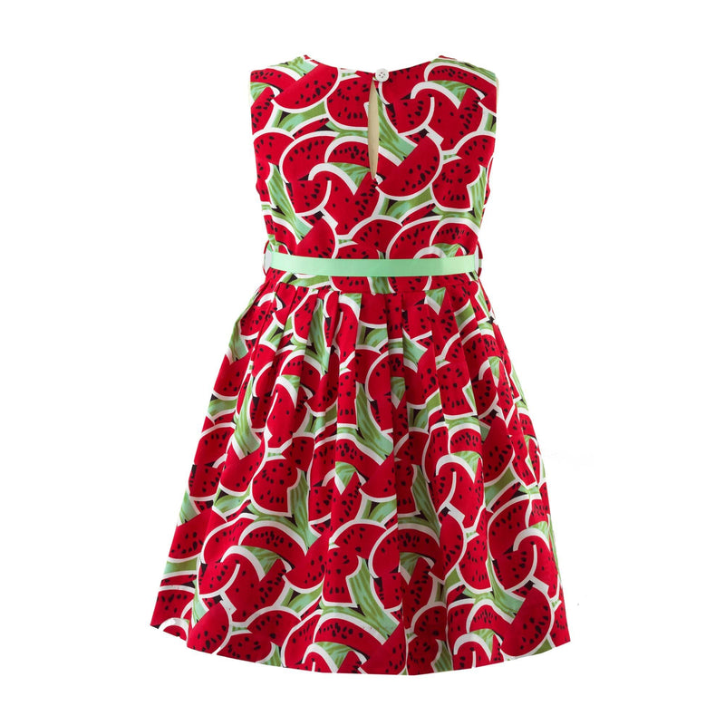 Watermelon Pleated Dress