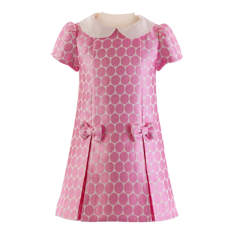 Spot Damask Shift Dress