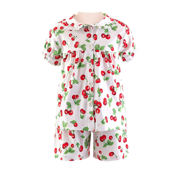 Cherry Babydoll Short Pyjamas