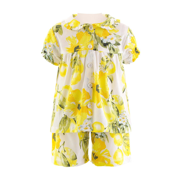 Lemon Babydoll Short Pyjamas