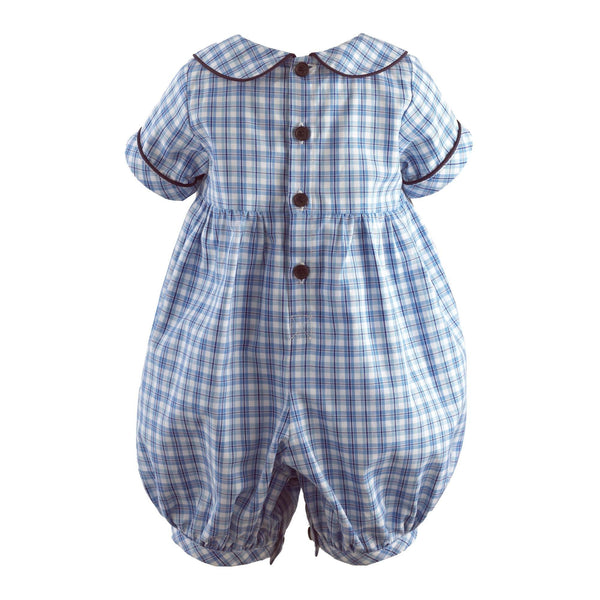 Train Smocked Babysuit