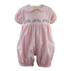 Lamb Embroidered Babysuit