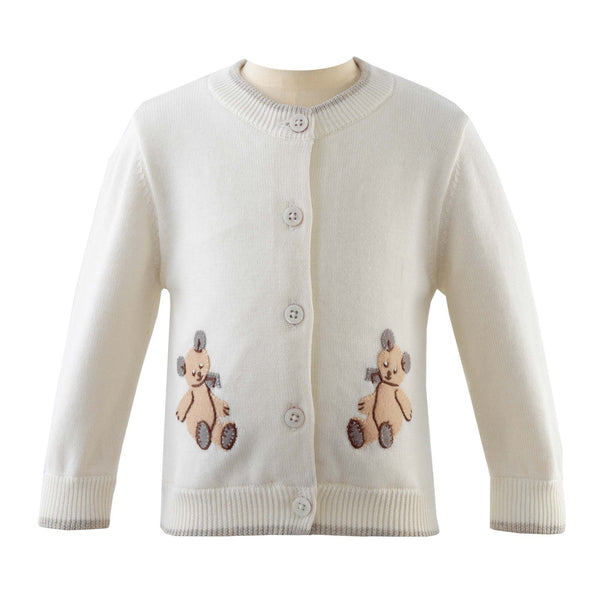 Teddy Applique Cardigan