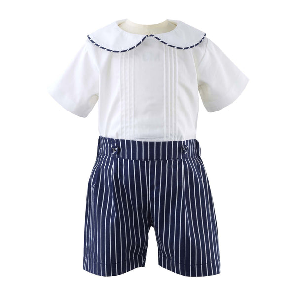 Pintuck Shirt & Short Set