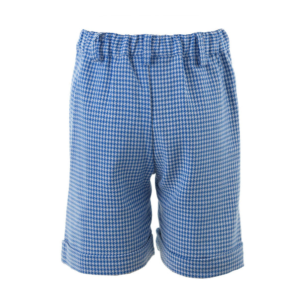 Blue Houndstooth Shorts