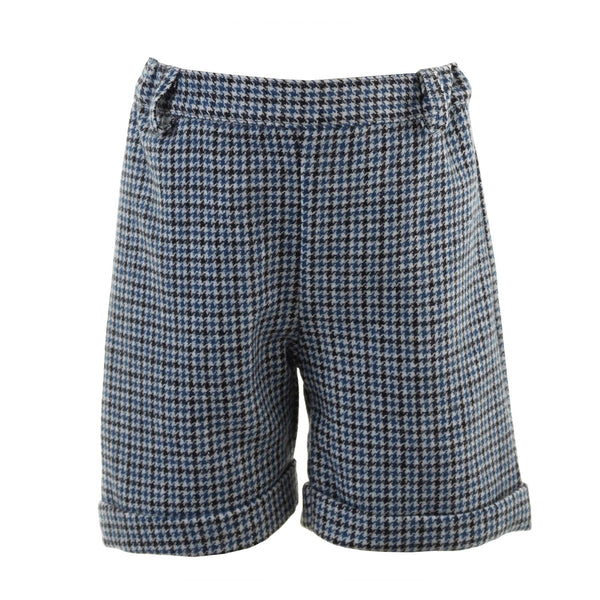 Grey Houndstooth Shorts