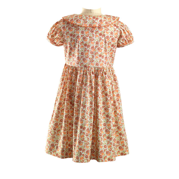 Coral Bouquet Button-front Dress