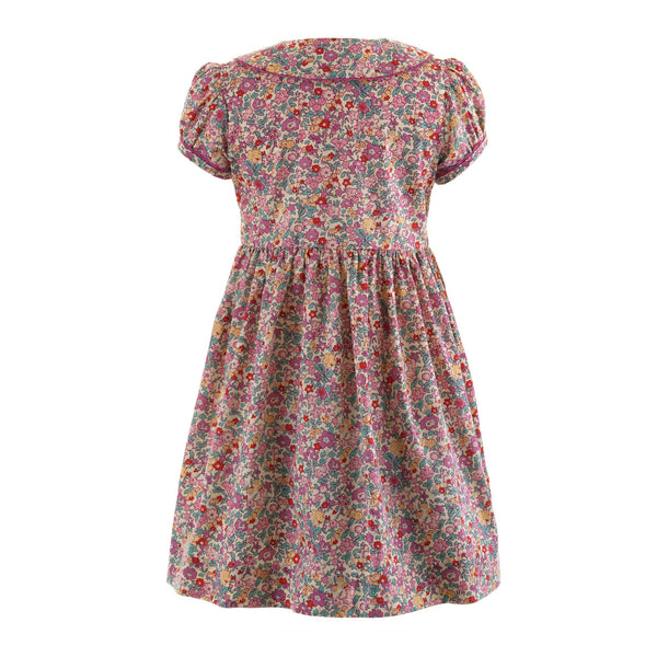 Vintage Floral Button-front Dress