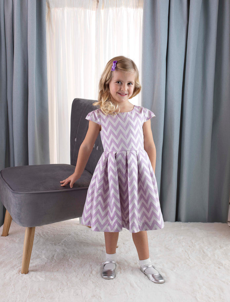 Chevron Damask Party Dress