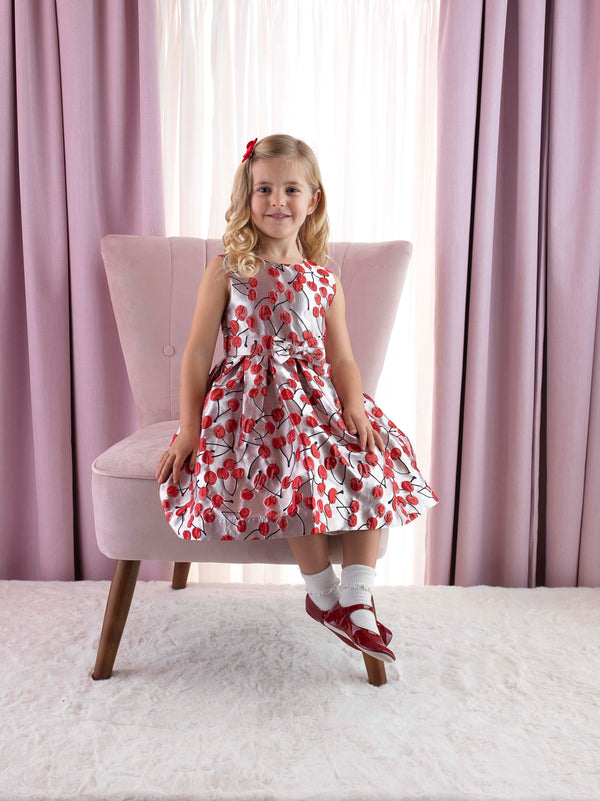 Cherry Damask Dress