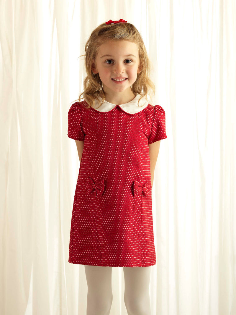 Pin Dot Damask Shift Dress