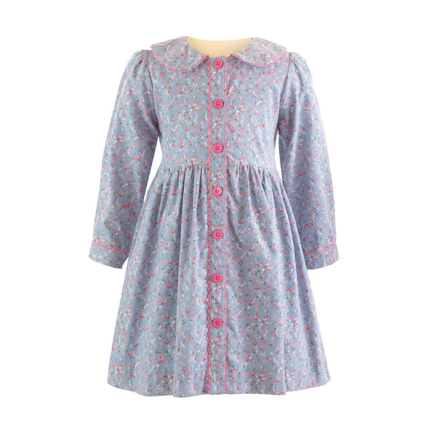 Babycord Button-front Dress