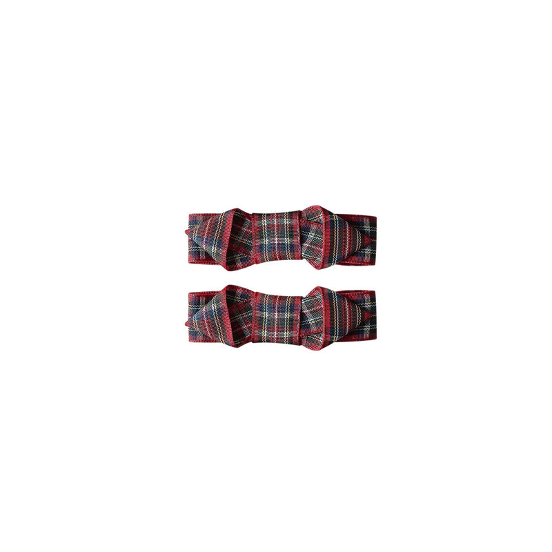 Tartan Ribbon Hairslide Set