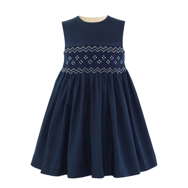 Geometric Smocked Pinafore