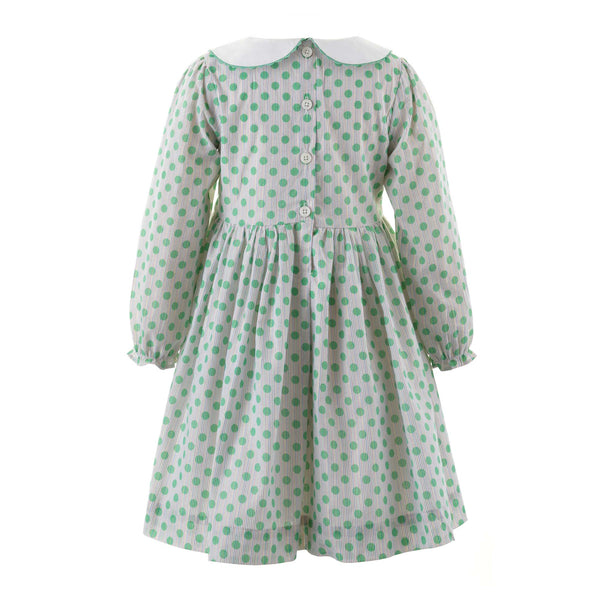 Sparkle Polka Dot Peter Pan Collar Dress