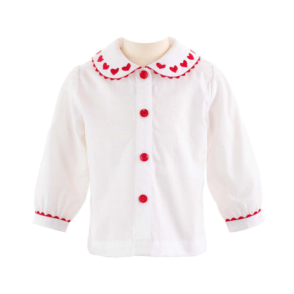Heart Embroidered Blouse