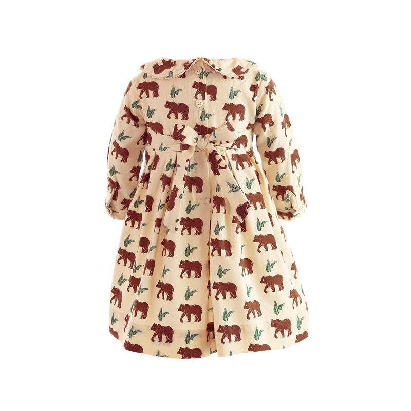 Brown Bear Pleated Dress & Bloomers