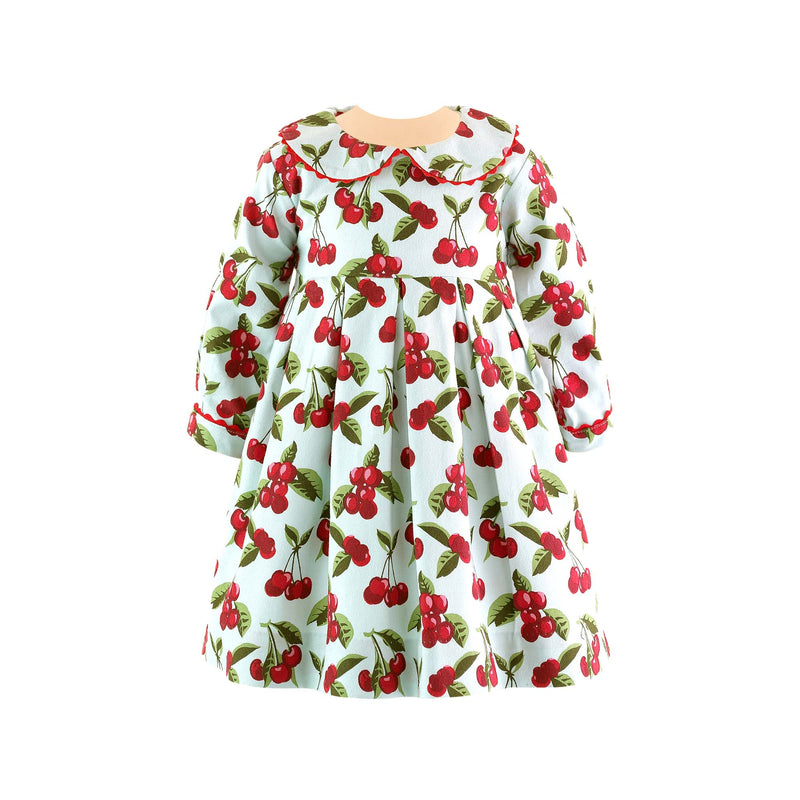 Cherry Pleated Dress & Bloomers