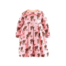 Deer Pleated  Dress & Bloomers