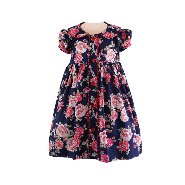 Rose Button-front Dress & Bloomers