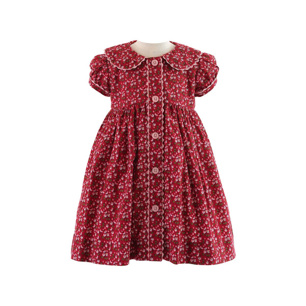 Ditsy Floral Button-front Dress & Bloomers