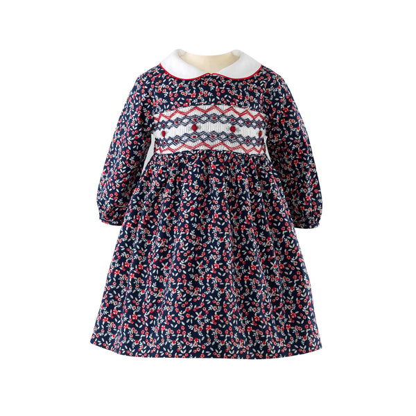 Winter Floral Smocked Dress & Bloomers