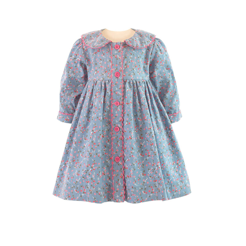 Babycord Button-front Dress & Bloomers