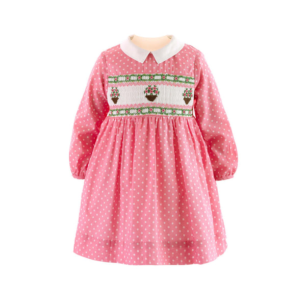 Flower Pot Smocked Dress & Bloomers