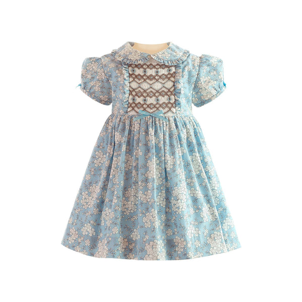 Floral Frill Smocked Dress & Bloomers