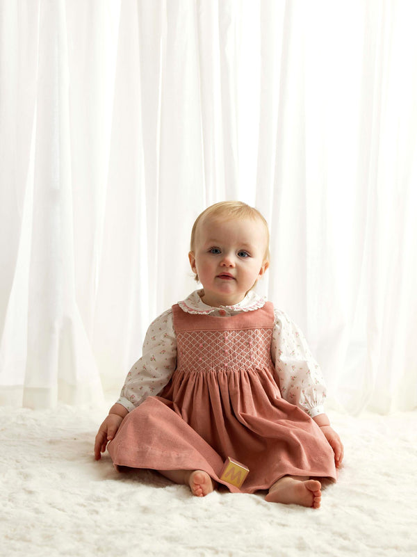 Rosebud Smocked Pinafore