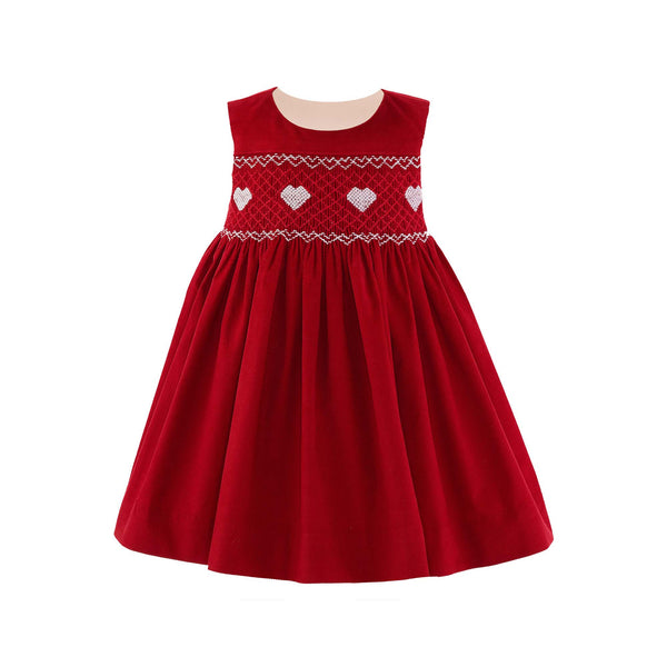 Heart Smocked Pinafore