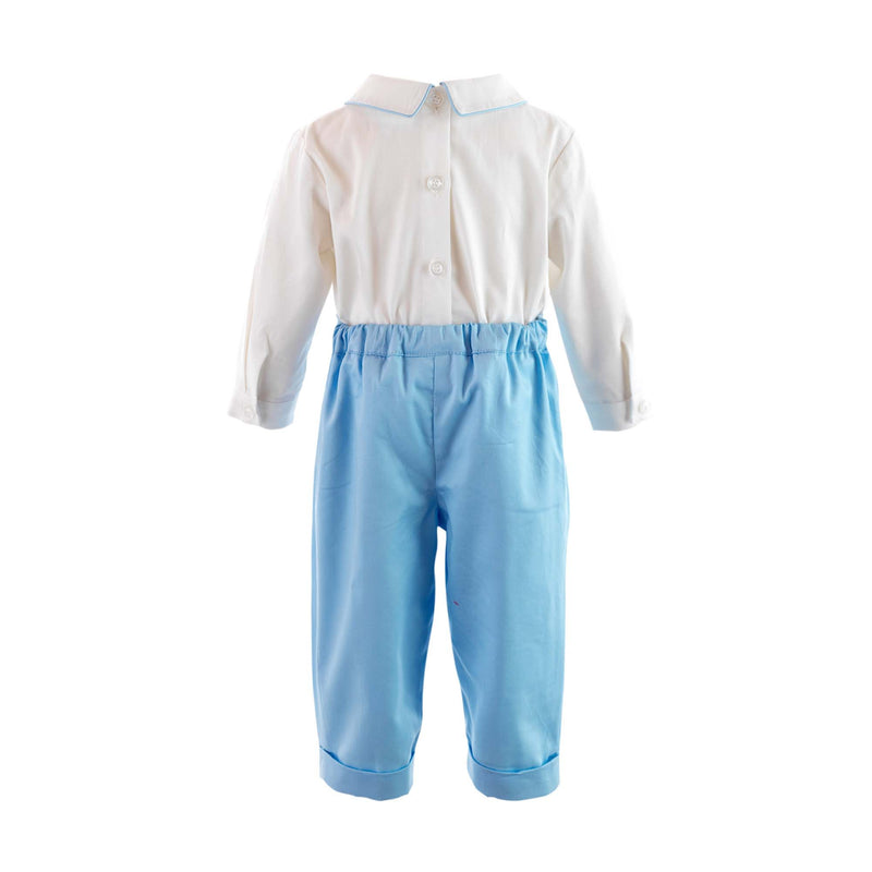 Smocked Shirt & Trouser Set