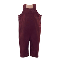 babycord, dungarees, burgundy romper, Rachel Riley dungarees, casual wear, formal wear