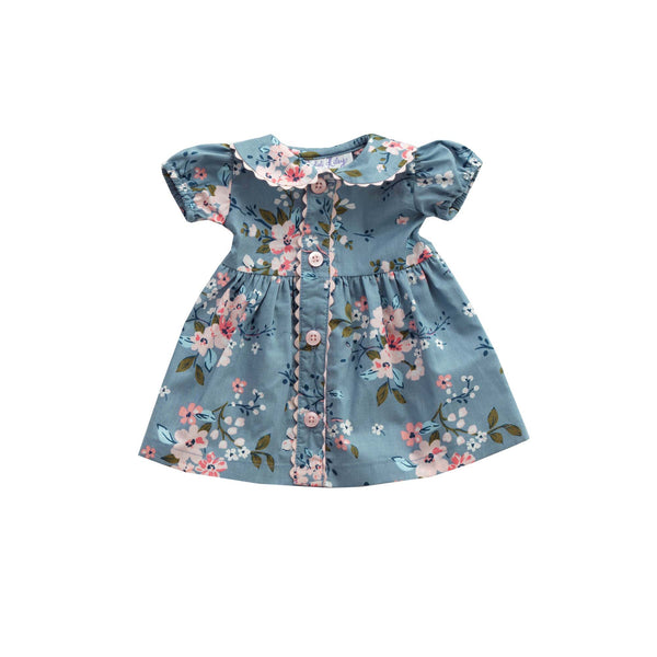 Dolly Winter Floral Button-front Dress