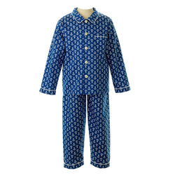anchor long pyjamas, anchor print, Rachel Riley nightwear, boy pyjamas