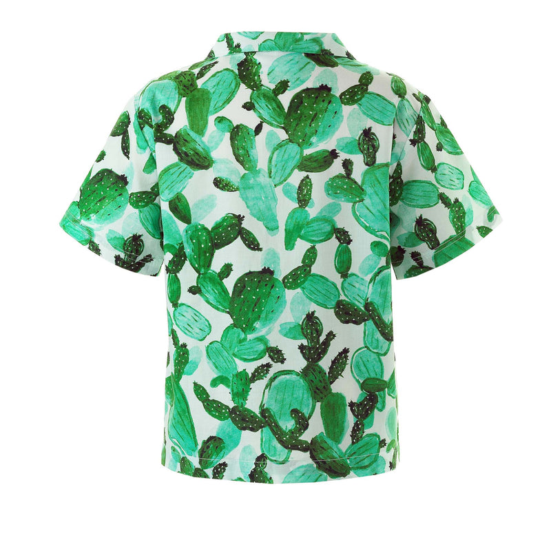 cactus shirt, boys shirt, Rachel Riley shirt, party, holiday, green, ivory, summer shirt, occasion, casual