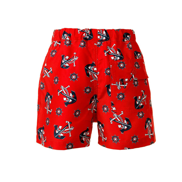 anchor swimshorts, boys swimshorts, Rachel Riley swimwear, anchor print