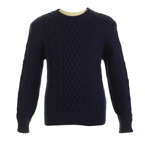 cable knit, sweater, boy sweater, navy, Rachel Riley knitwear, spring, casual, formal