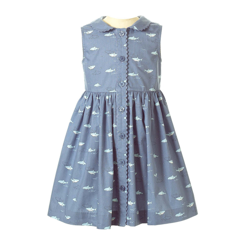 Shark Button Front Dress