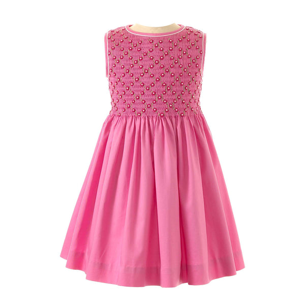 Rose Lattice Smocked Dress