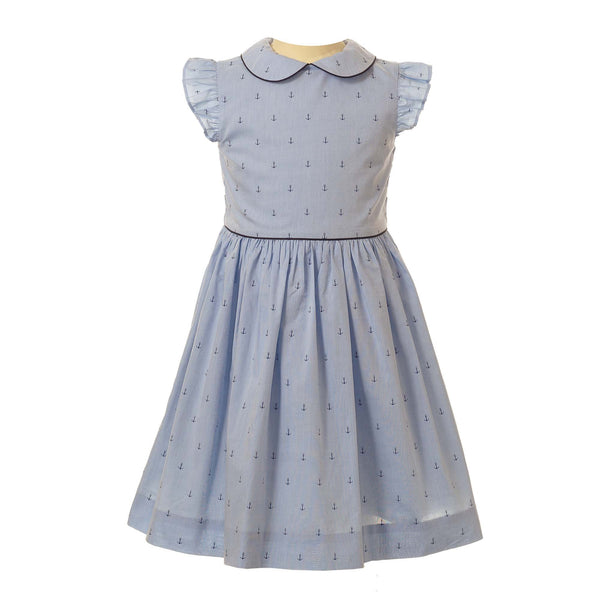 Oxford Anchor Frill Dress